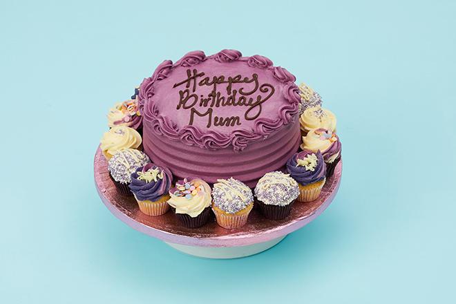 Outstanding Purple Theme Purple Carousel Cake Personalised Birthday Cards Akebfashionlily Jamesorg