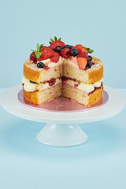 Stupendous Victoria Sponge Cake Personalised Birthday Cards Arneslily Jamesorg
