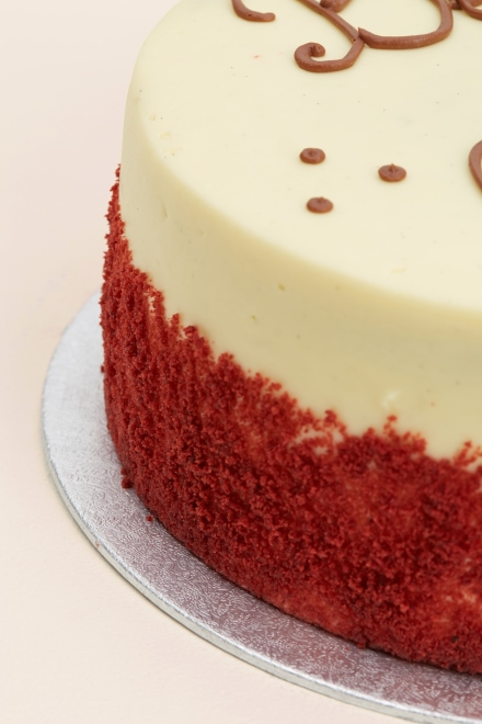 Red And Cream Wedding Cakes