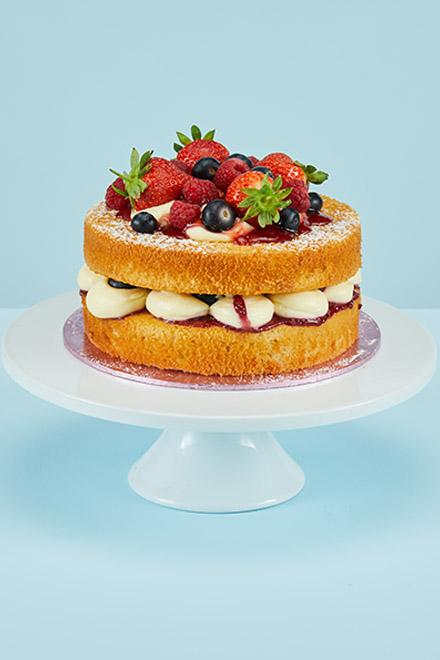 Fine Victoria Sponge Cake Personalised Birthday Cards Arneslily Jamesorg