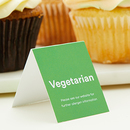 Vegetarian Dietary Place Card