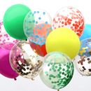 Rainbow Confetti Balloons (Uninflated)