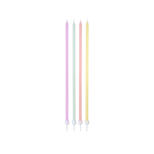 Pastel Long Thing Candles - 16 Pack