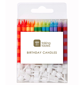Birthday Bash Striped Candles (24 pk)