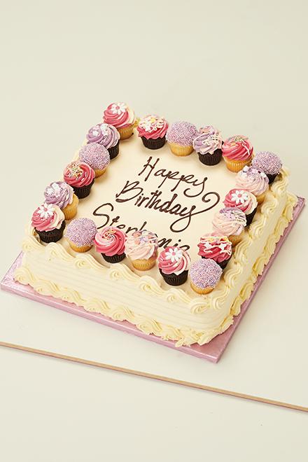 Outstanding Pink White Party Cake Personalised Birthday Cards Akebfashionlily Jamesorg