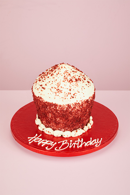 Buy Red Velvet Giant Cupcake Online From Lola S Cupcakes