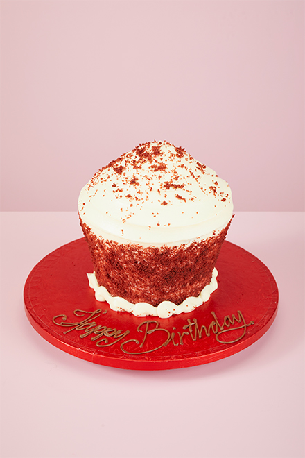 Buy Wheat Free Red Velvet Giant Cupcake Online From Lolas Cupcakes