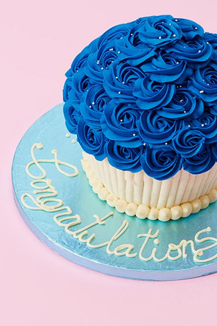 Buy Royal Blue Rosette Giant Cupcake Online From Lola S