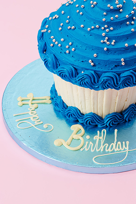 Fabulous Buy Royal Blue Giant Cupcake Online From Lolas Cupcakes Birthday Cards Printable Trancafe Filternl