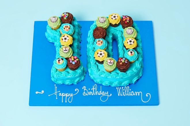 Sky Blue Boys Mini Number Cake