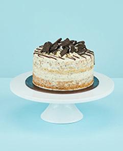 Eggless Cookies Cream Cake
