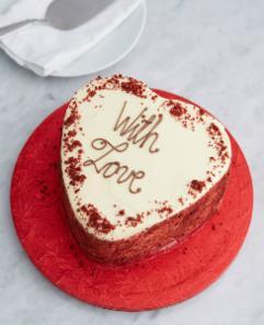 Gluten Free Red Velvet Heart Cake