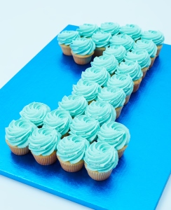 Single Colour Cupcake Number Cakes