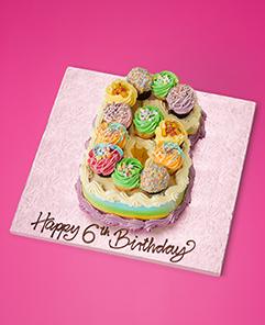 Lola S Cupcakes Rainbow Number Cakes