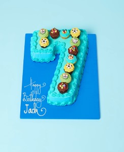 Kids Sky Blue Regular Number Cake